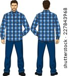 the suit for the man consists... | Shutterstock .eps vector #227843968