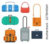 bags  suitcase and backpack... | Shutterstock .eps vector #227844064