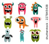 freaky monsters set | Shutterstock .eps vector #227845438