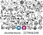 hand drawn doodle boy's and... | Shutterstock .eps vector #227846248