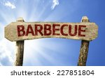 Barbecue Wooden Sign On A...