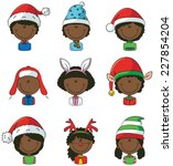 collection of cute cristmas...   Shutterstock .eps vector #227854204