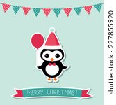 christmas vector card with a... | Shutterstock .eps vector #227855920