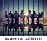 business meeting sun... | Shutterstock . vector #227858650