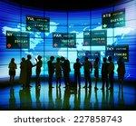 business people stock exchange... | Shutterstock . vector #227858743