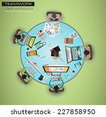 ideal workspace for teamwork...