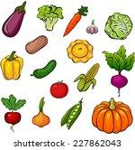 set of vegetables. vector... | Shutterstock .eps vector #227862043