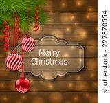 illustration christmas label... | Shutterstock .eps vector #227870554