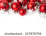 red christmas balls in the snow ... | Shutterstock . vector #227870794