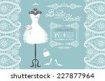 wedding bridal shower...   Shutterstock .eps vector #227877964