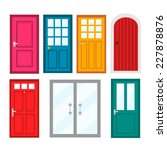 colourful front doors to houses ... | Shutterstock .eps vector #227878876