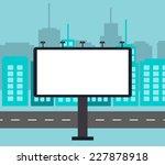 empty billboard in the city...   Shutterstock .eps vector #227878918