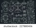 doodles frame border arrow... | Shutterstock .eps vector #227880406