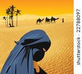 arabian woman in sahara   Shutterstock .eps vector #22788097
