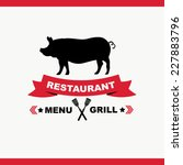 cafe menu grill  template... | Shutterstock .eps vector #227883796