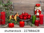 Christmas Decorations With Red...