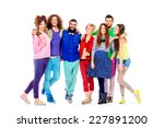 large group of cheerful young... | Shutterstock . vector #227891200