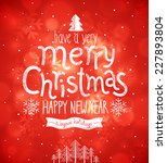 christmas card. vector... | Shutterstock .eps vector #227893804