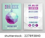 christmas flyer   geometric... | Shutterstock .eps vector #227893840