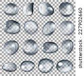 set of transparent drops of... | Shutterstock .eps vector #227902660