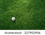 golf ball on green grass in... | Shutterstock . vector #227902906