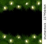 christmas lights on pine... | Shutterstock .eps vector #227906464