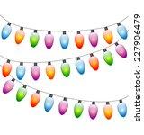 multicolored led christmas... | Shutterstock .eps vector #227906479