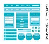 flat web user interface set.... | Shutterstock .eps vector #227911390
