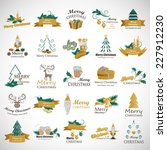 christmas icons and elements... | Shutterstock .eps vector #227912230