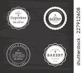 abstract bakery objects on a... | Shutterstock .eps vector #227912608