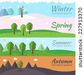 season icon set of nature tree... | Shutterstock .eps vector #227913370