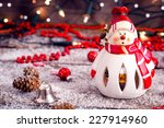 Christmas Time  Snowman With...