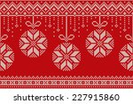 winter holiday seamless... | Shutterstock .eps vector #227915860