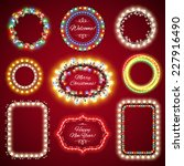 christmas lights frames with a... | Shutterstock .eps vector #227916490