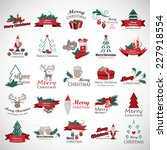 christmas icons and elements... | Shutterstock .eps vector #227918554