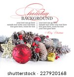 christmas or holiday background ... | Shutterstock . vector #227920168