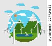 flat vector concept... | Shutterstock .eps vector #227924653