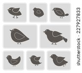 set of monochrome icons with...   Shutterstock .eps vector #227927833