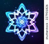 blue vector shining cosmic... | Shutterstock .eps vector #227931826