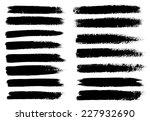 black ink vector brush strokes | Shutterstock .eps vector #227932690