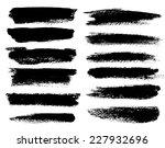 black ink vector brush strokes | Shutterstock .eps vector #227932696