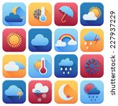 set of weather icons. flat style | Shutterstock .eps vector #227937229
