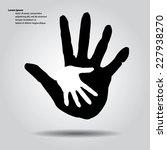 helping hands. | Shutterstock .eps vector #227938270