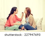 makeup  friendship and leisure... | Shutterstock . vector #227947693
