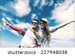 summer holidays and teenage... | Shutterstock . vector #227948038