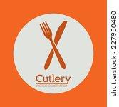 restaurant design over orange... | Shutterstock .eps vector #227950480