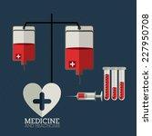 medical design over white... | Shutterstock .eps vector #227950708