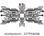 abstract technology circuit... | Shutterstock .eps vector #227956048