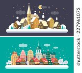 christmas time. urban and... | Shutterstock .eps vector #227961073