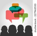 vector customer testimonials... | Shutterstock .eps vector #227963533
